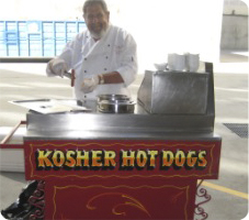 Kosher hot dog cart in Los Angeles, CA