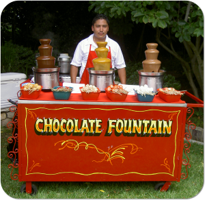 Los Angeles Chocolate Fountain Cart