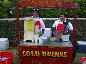 Cold Drinks Cart at Cinco de Mayo Party