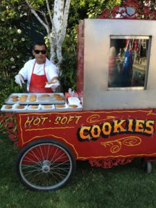 Hot fresh cookie cart